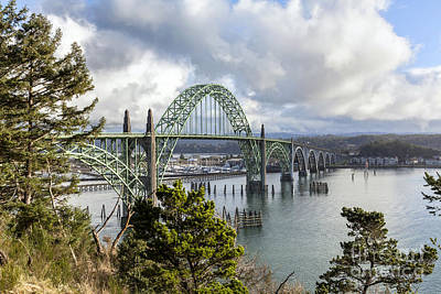 Photograph - Yaquina Bay Bridge by Lynn Palmer