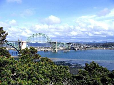 Yaquina Bay Bridge Photograph - Yaquina Bay Bridge by Will Borden