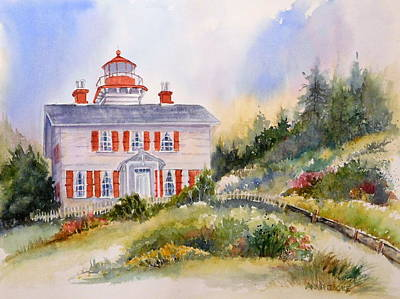 Painting - Yaquina Bay Light by Anna Jacke