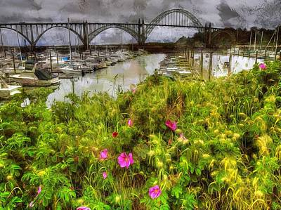 Photograph - Yaquina Bay Roses by Thom Zehrfeld