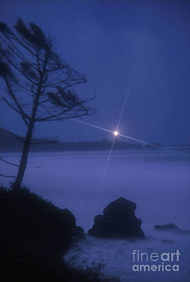 Photograph - Yaquina Head At Night by Rick Bures