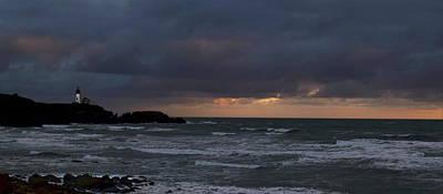 Agate Beach Oregon Photograph - Yaquina Head From Agate Beach by Michael Degnan
