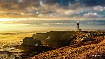 Photograph - Yaquina Head Light by Walt Baker