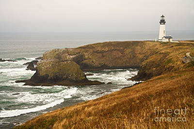 Photograph - Yaquina Head Lighthouse by Alice Cahill