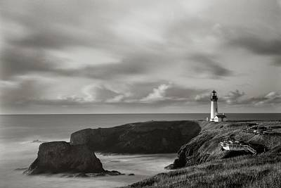 Photograph - Yaquina Head Lighthouse by HW Kateley