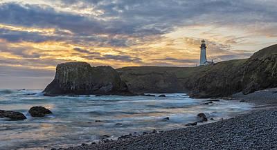 Photograph - Yaquina Head Lighthouse by Loree Johnson