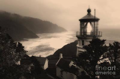 Coastguard Photograph - Heceta Head Lighthouse Oregon 2 by Bob Christopher