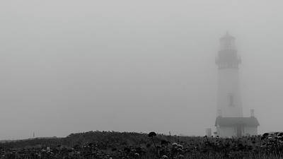 Photograph - Yaquina Head Lighthouse Oregon Coast by Lawrence S Richardson Jr