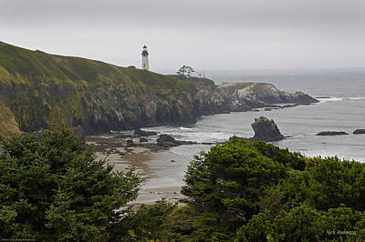 Yaquina Head Lighthouse View Art Print