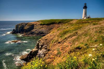 Photograph - Yaquina Head Lighthouse by Walt Sterneman