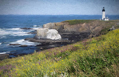 Photograph - Yaquina Head Outstanding Natural Area by Thom Zehrfeld