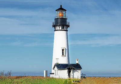 Photograph - Yaquina Head's Lighthouse, Oregon Shore by Kay Brewer