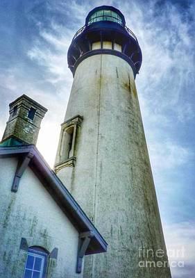 Photograph - Yaquina Light House Blue by Susan Garren