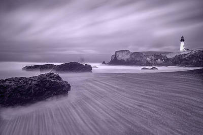Photograph - Yaquina Lighthouse Infrared by William Lee
