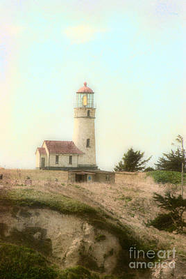 Photograph - Yaquina Lighthouse Oregon by Jim And Emily Bush