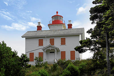 Photograph - Yaquina Lighthouses - Yaquina Bay Lighthouse Oregon by Christine Till