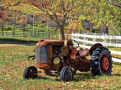 Photograph - Yard Art Tractor by David King
