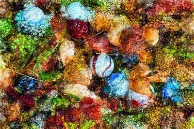 Digital Art - Yard Marbles Abstract Art by Anna Louise