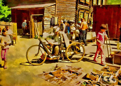 Mixed Media - Yard Sale by Olga Hamilton