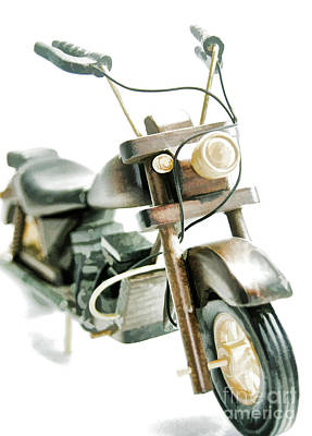 Photograph - Yard Sale Wooden Toy Motorcycle by Wilma Birdwell