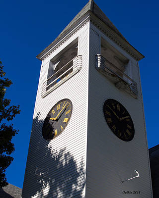Photograph - Yarmouth Baptist Clock Tower by Dick Botkin