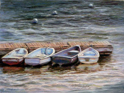 Pastel - Yarmouth Dory's by Denise Horne-Kaplan