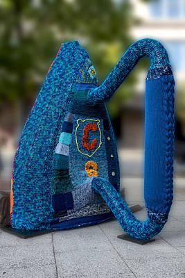 Asheville Digital Art - Yarn Bombed Flat Iron by John Haldane