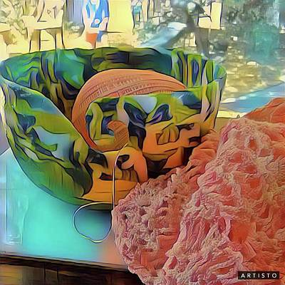 Digital Art - Yarn Bowl by Ginny Schmidt