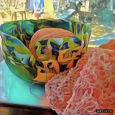 Digital Art - Yarn Bowl by Ginny Schmidt