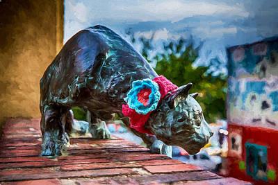 Yarn Of The Asheville Cat Art Print