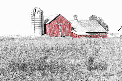 Photograph - Yasgur Farms Sketch-original Woodstock Site 0005 by Ericamaxine Price