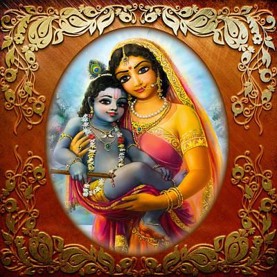 Mixed Media - Yashoda And  Krishna 3 by Lila Shravani
