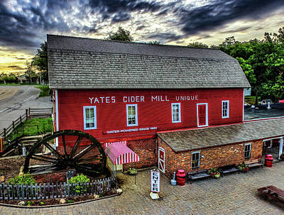 Digital Art - Yates Cider Mill Dji_0072 by Michael Thomas