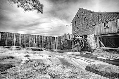 Antique Maps - Yates Mill in Black and White by Anthony Doudt