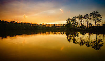 Photograph - Yates Mill Pond At Sunset by Anthony Doudt
