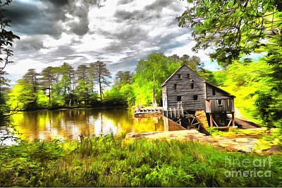 Yates Mill Raleigh Nc II Art Print by Mylinda Revell