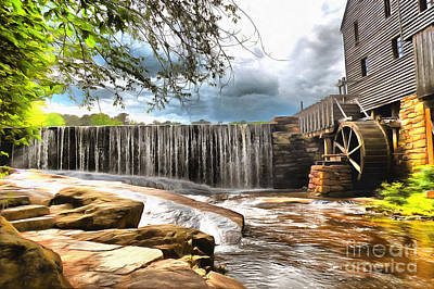 Yates Mill Raleigh Nc Art Print by Mylinda Revell