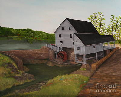 Grist Mill Painting - Yates Mill by Timothy Smith