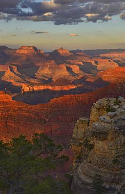 Photograph - Yavapai Point Sunset by Stephen  Vecchiotti