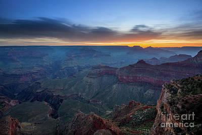 Yavapai Sunrise At The Grand Canyon Art Print