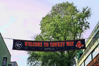 Photograph - Yawkey Way - Fenway Park by Allen Beatty