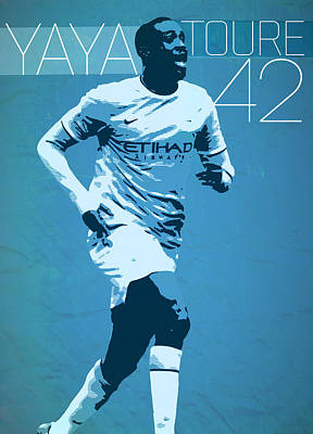 Messi Digital Art - Yaya Toure by Semih Yurdabak