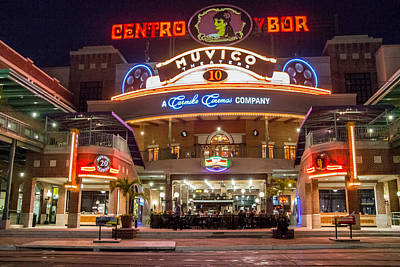 Photograph - Ybor City Movie Theater Complex by Richard Goldman
