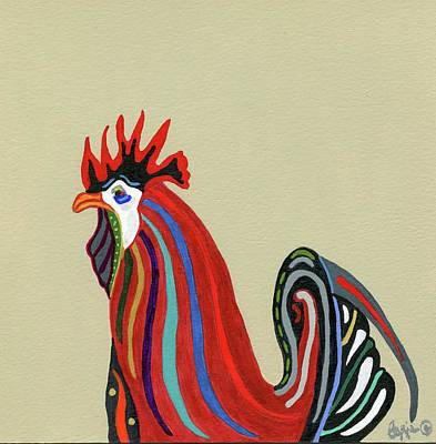 Painting - Ybor City Rooster by Stephanie Agliano