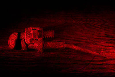 Photograph - Ye Old Pipe Wrench  by David Andersen