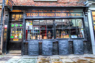 Thomas Kinkade - Ye Old Shambles Tavern York by David Pyatt