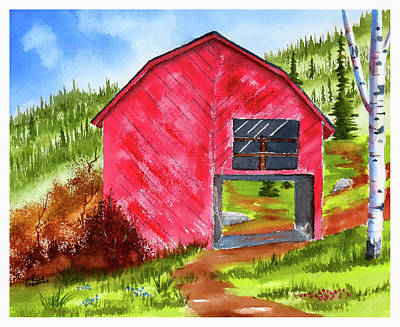 Painting - Ye Olde Barn by Rich Stedman