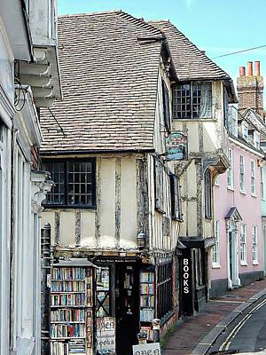 Photograph - Ye Olde Bookshop Lewes Side View by Dorothy Berry-Lound