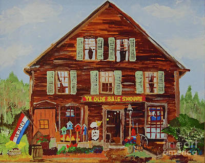 Painting - Ye Olde Sale Shoppe by Francois Lamothe