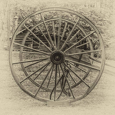 Digital Art - Ye Olde Wagon Wheels by John Haldane